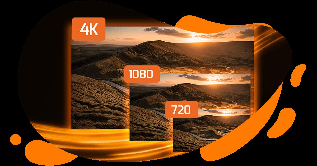 Resolución 720p 1080p 4K
